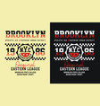 brooklyn typography graphics vector image vector image
