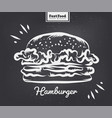 burger poster with cool design vector image vector image