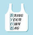 byob concept bring your own bag icon stop plastic