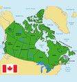 canada map with regions and their capitals vector image vector image