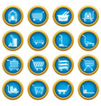 cart types icons set simple style vector image vector image