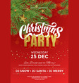 christmas party celebration invitation poster vector image