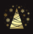 christmas tree holiday background with vector image