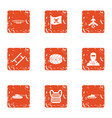 clash icons set grunge style vector image vector image