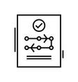 conclusive decision line icon concept sign vector image