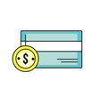 credit card electronic with coin cash money vector image vector image