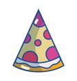 delicious slice of pizza food vector image