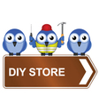 DIY STORE SIGN vector image vector image