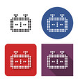 dotted icon chess-clock in four variants with vector image