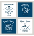Fish logo and emblem for menu vector image