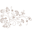 Floral pattern plant ornament
