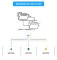 folder file management move copy business flow vector image vector image