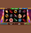 free games screen for pin-up slots game vector image vector image