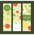 fresh salad vertical banners set pattern vector image vector image