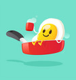 good morning smile for sweet breakfast vector image