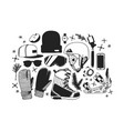 hand drawn fashion snowboarding thing vector image vector image
