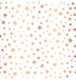 handdrawn stars rose gold foil background vector image vector image