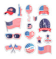 happy flag day icons set color vector image vector image