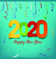 happy new year 2020 abstract design template vector image vector image