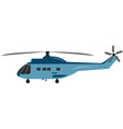 helicopter military or civil aviation vector image