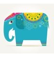 India - background with patterned elephant vector image