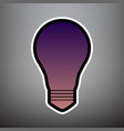 light lamp sign violet gradient icon with vector image vector image