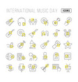 line icons international music day vector image