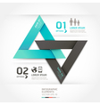 Modern arrow communication origami style vector image