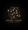 natural flower luxury concept logo design vector image