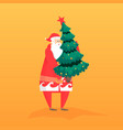new year flat with santa gift vector image vector image
