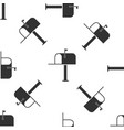open mail box icon seamless pattern vector image vector image