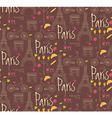 paris symbols postcard seamless pattern vector image vector image
