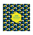 pattern blue yellow and white color petals vector image vector image