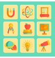 Physics Flat Design Icons Set vector image vector image