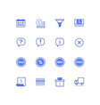 planning and organization thin line icons set vector image