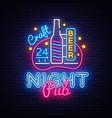 pub neon signboard beer pub neon sign vector image vector image