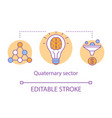 quaternary sector concept icon knowledge sector vector image vector image