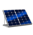 realistic detailed 3d solar panels with shadow vector image