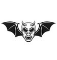samurai mask with bat wings and horns vector image vector image