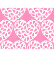 Seamless heart lace vector image vector image