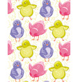 seamless pattern with funny purple pink and green vector image vector image