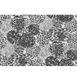 Seamless pencil scribble pattern in black and whit vector image vector image