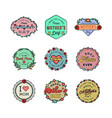 set happy mothers day badges vector image
