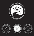 set of ecology logotypes icon and nature symbol vector image vector image