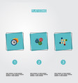 set of idea icons flat style symbols with teamwork vector image