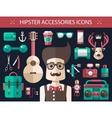 Set of modern flat design hipster icons vector image vector image