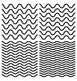 tile seamless pattern wavy set vector image vector image