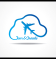 Tour and Tourism icon with cloud stock vector image vector image