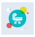 trolly baby kids push stroller white glyph icon vector image