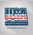 usa independence card vector image